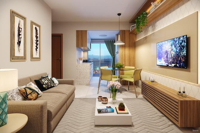 Sala de estar Residencial Lavandas