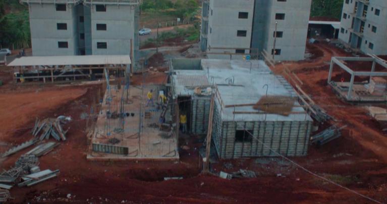 paredes de concreto moldadas in loco