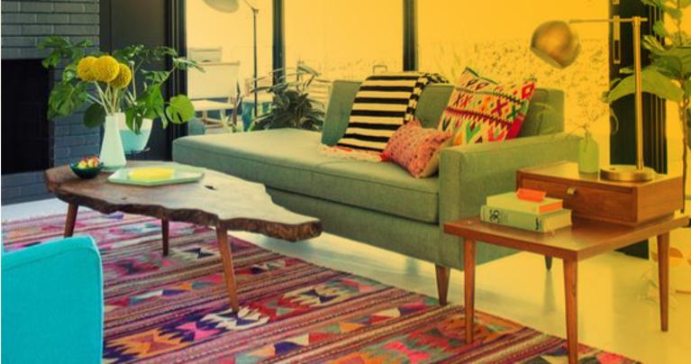 como escolher cores e estampas para tapete