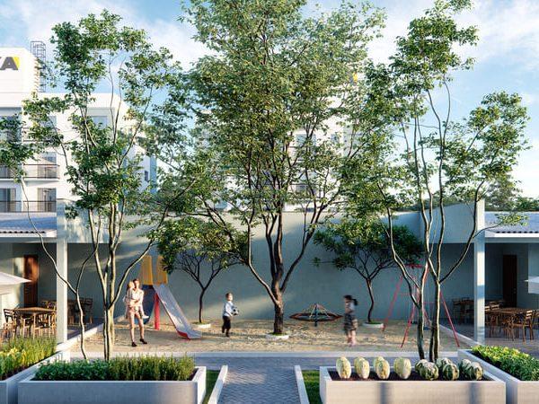 Playground e horta