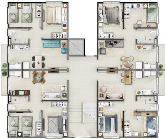 Residencial Vila das Margaridas: PBH Andar
